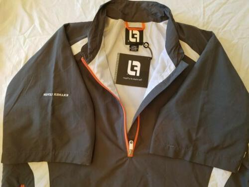 Men's Zip Pullover Golf Jacket Size: