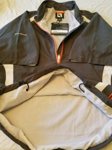 Men's Zip Wind Pullover Size: L