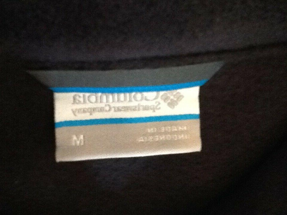 COLUMBIA Ridge Fleece Zip Lightweight BLACK M
