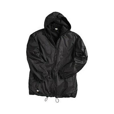 men s fleece lined hooded nylon jacket