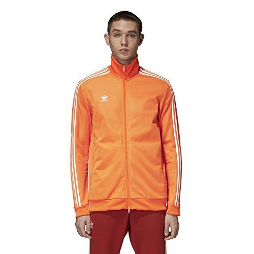 men s franz beckenbauer tracktop bright orange