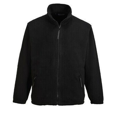 men s full zip fleece jacket soft