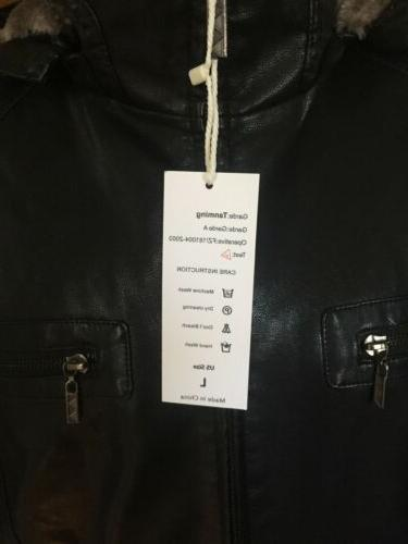Tanming Lined Leather Jacket Fur