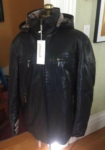 men s fur lined leather jacket