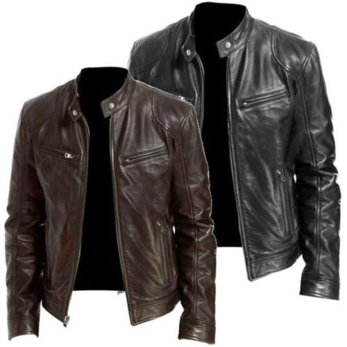 Men's Jacket Slim fit Biker Coat