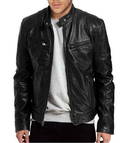Men's Genuine Jacket Slim fit Jacket Coat