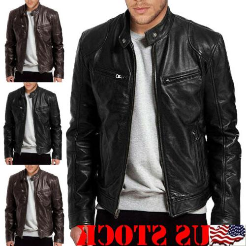men s genuine lambskin leather jacket black