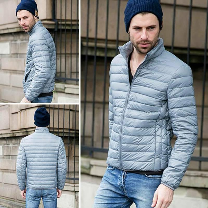 Men's Goose Duck Jacket Puffer Coat Stand Collar