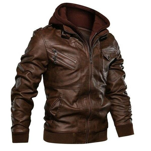 Men Hooded Casual Slim Fit Jackets