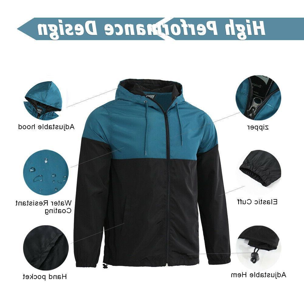 Men's Lightweight Windproof Outdoor Jacket Teal