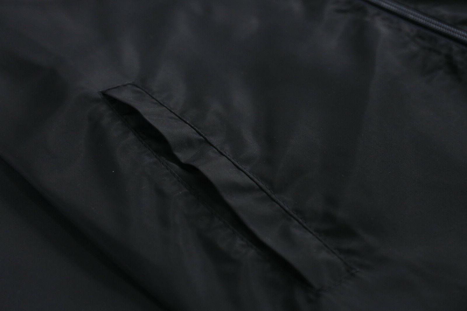 Men's Windbreaker Windproof Outdoor Teal Black
