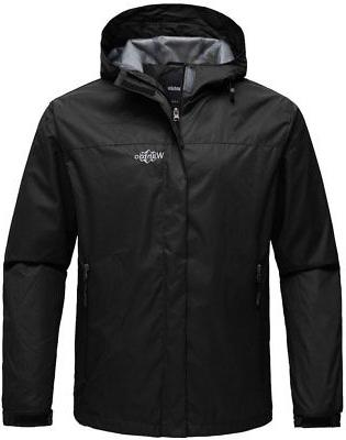 Wantdo Men's Hooded Spring Rain Jacket Waterproof Windproof