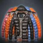 Men's Hooded Warm Casual Down Cotton-padded Coat Jackets Win