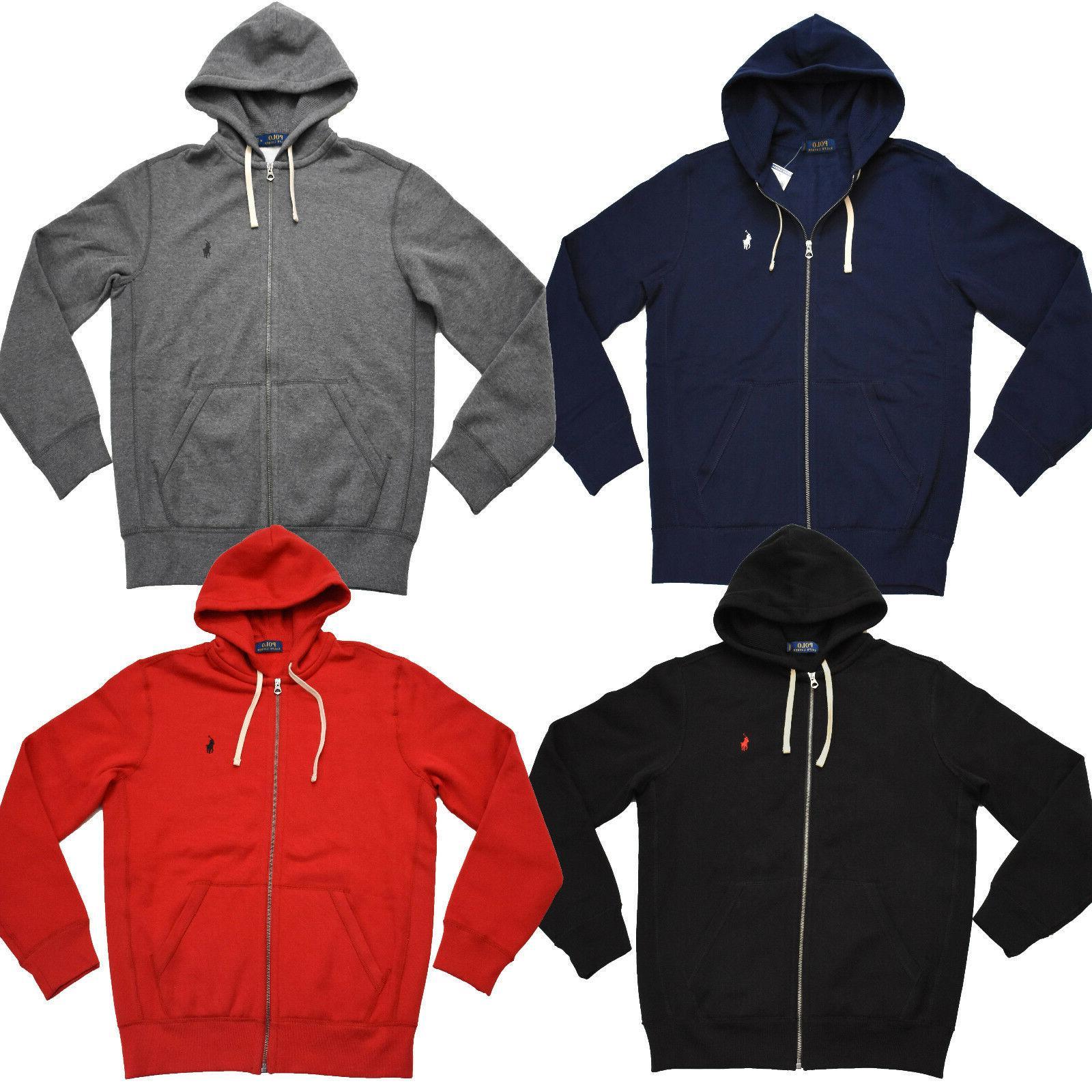 men s hoodie full zip fleece lining