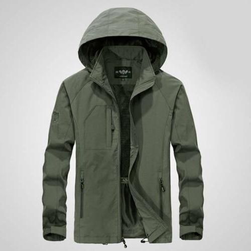 Men's Jacket Waterproof Hooded Outdoor Rain Coat