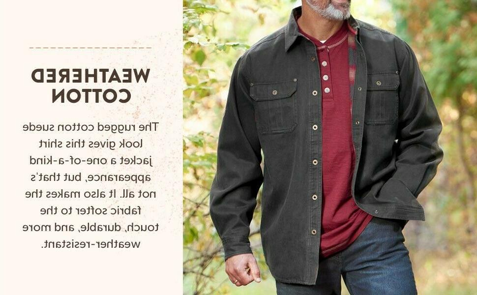 Flannel Lined Rugged Shirt Jacket