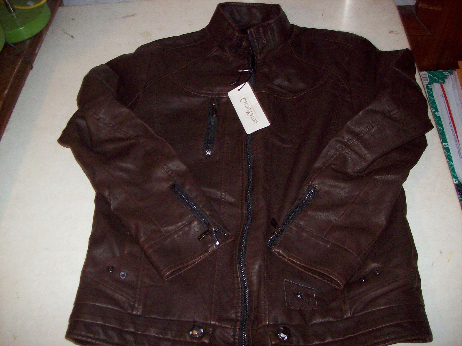 Pleather Motorcycle Bomber NEW