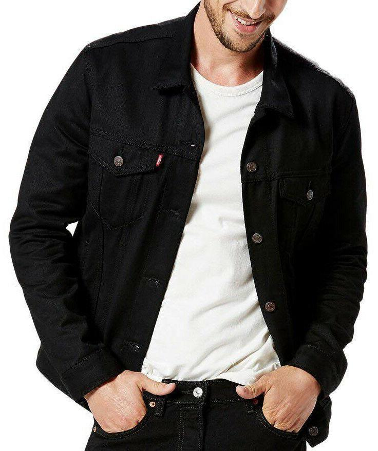 Men's Levi's Trucker Jacket Black NWT 100% Cotton $98 Big &