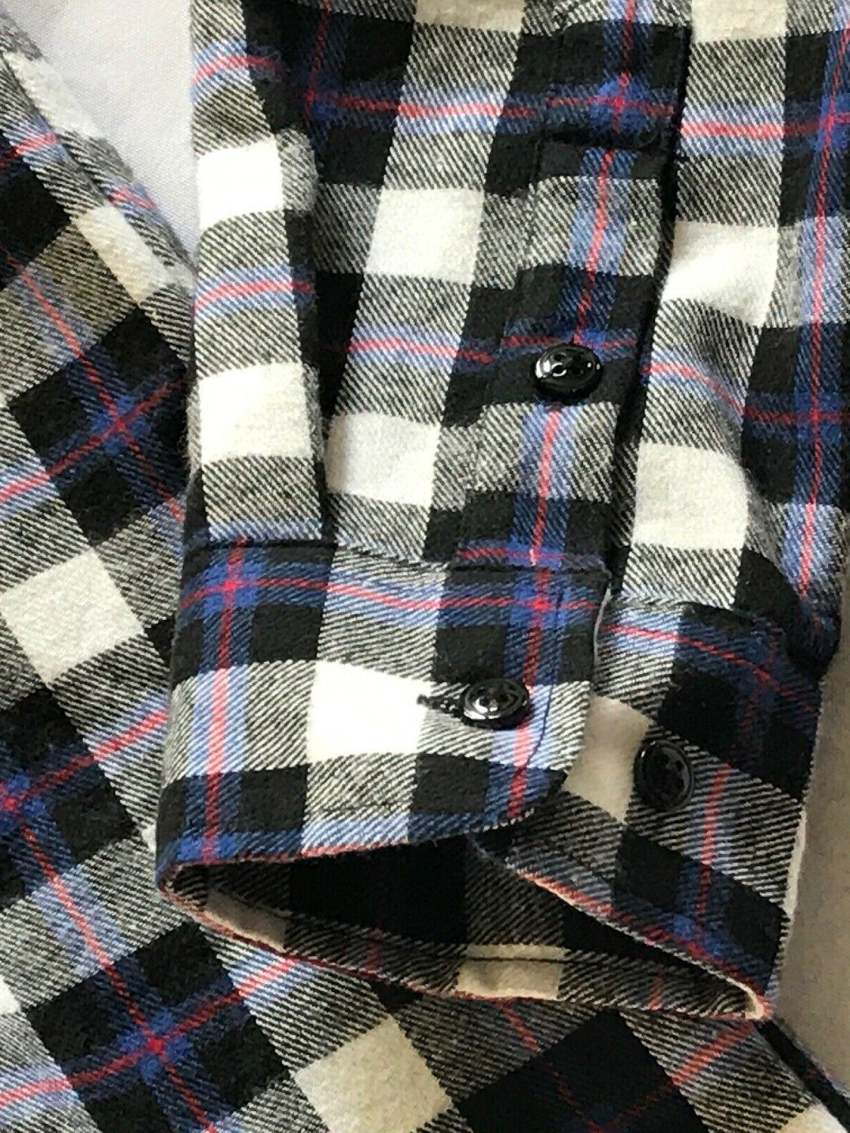 CHOUYATOU Men's Sleeve Fleece Lined Flannel Buttoned