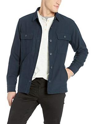 men s military broken twill shirt jacket