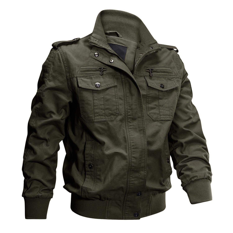 TACVASEN Jacket Cotton MA-1 Airborne Bomber Jackets