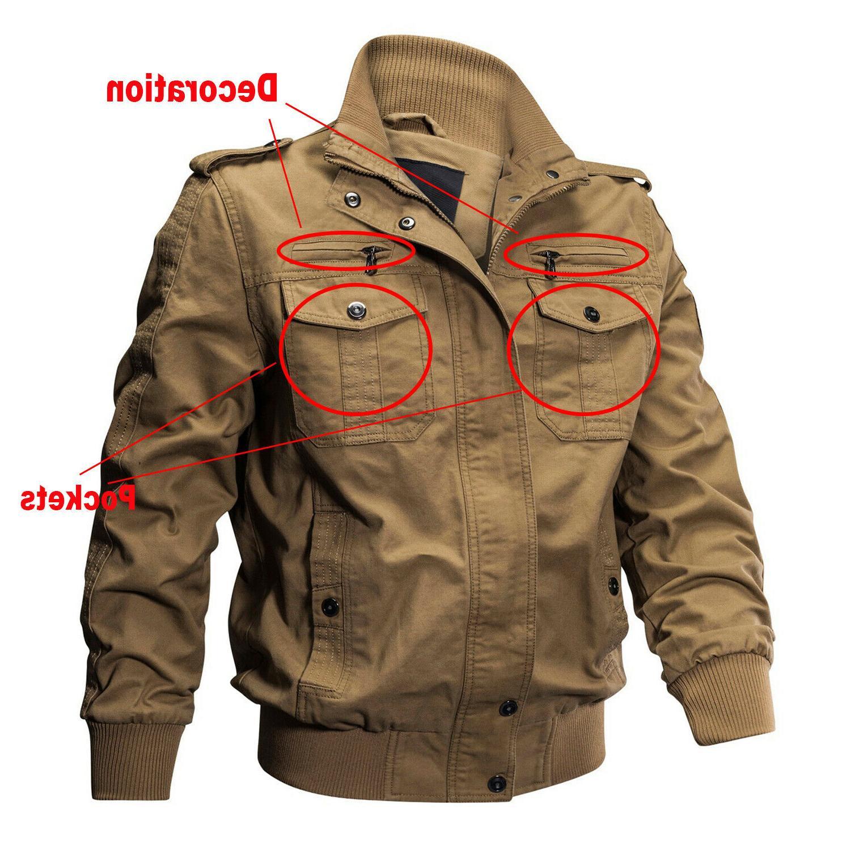 TACVASEN Men's Jacket Cotton MA-1 Airborne