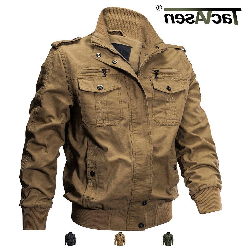 men s military cargo jacket cotton coats