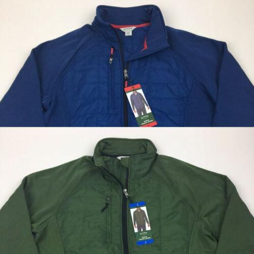 men s mixed media jacket poly blend