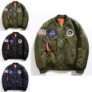 Men's Nasa Bomber Pilot MA1 Air Force Outwear