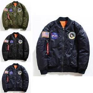 Men's Bomber Jacket Pilot MA1 Air Baseball Outwear