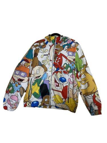 men s nickelodeon x windbreaker jacket 90s