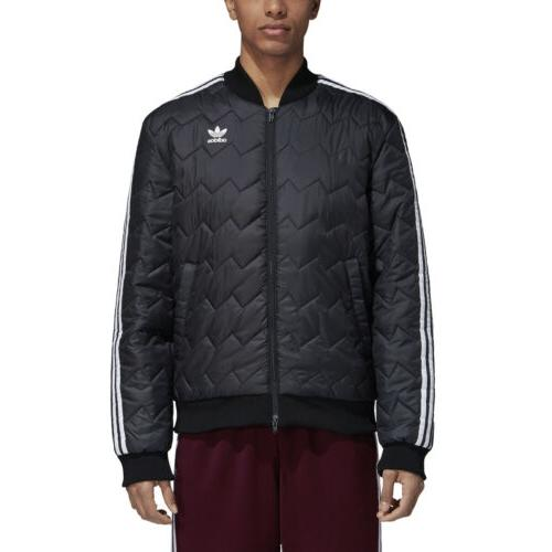 men s originals sst quilted jacket black