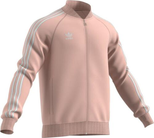 Adidas Men's Originals Superstar Track Jacket Pink/White ce8