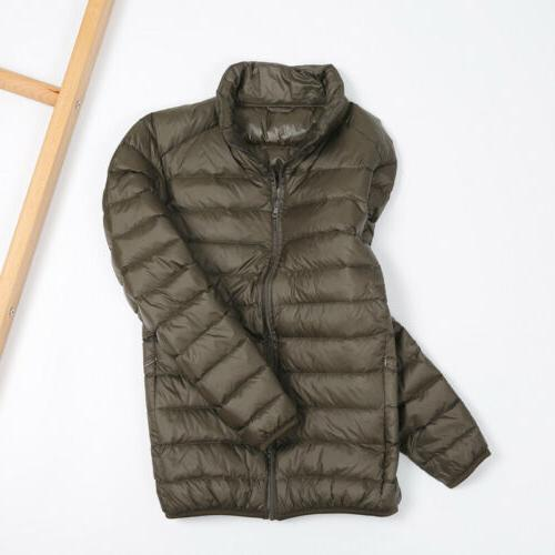 Men's Jacket Collar Ultralight Outerwear Puffer