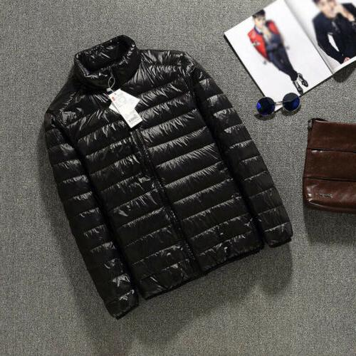 Men's Jacket Collar Ultralight Outerwear Coat Puffer