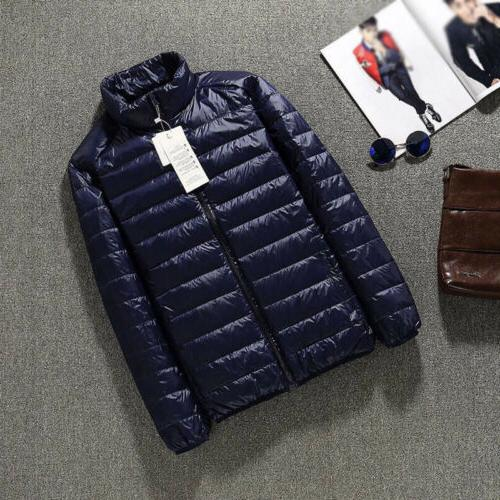 Men's Duck Down Jacket Collar Ultralight Outerwear