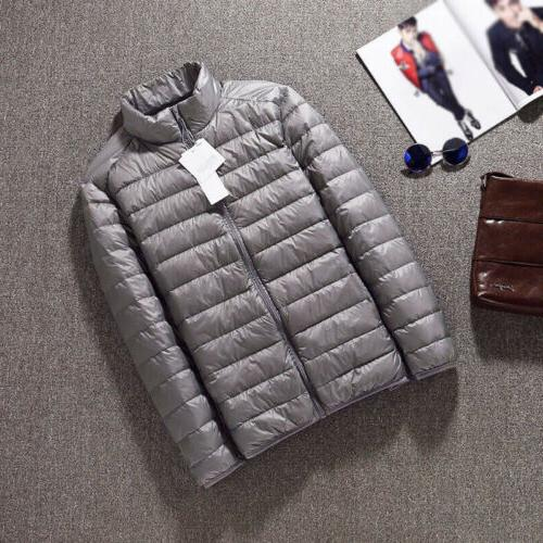Men's Packable Jacket Collar Outerwear