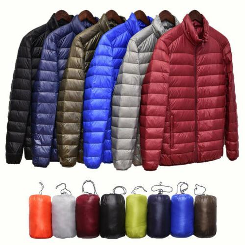 men s packable duck down jacket stand