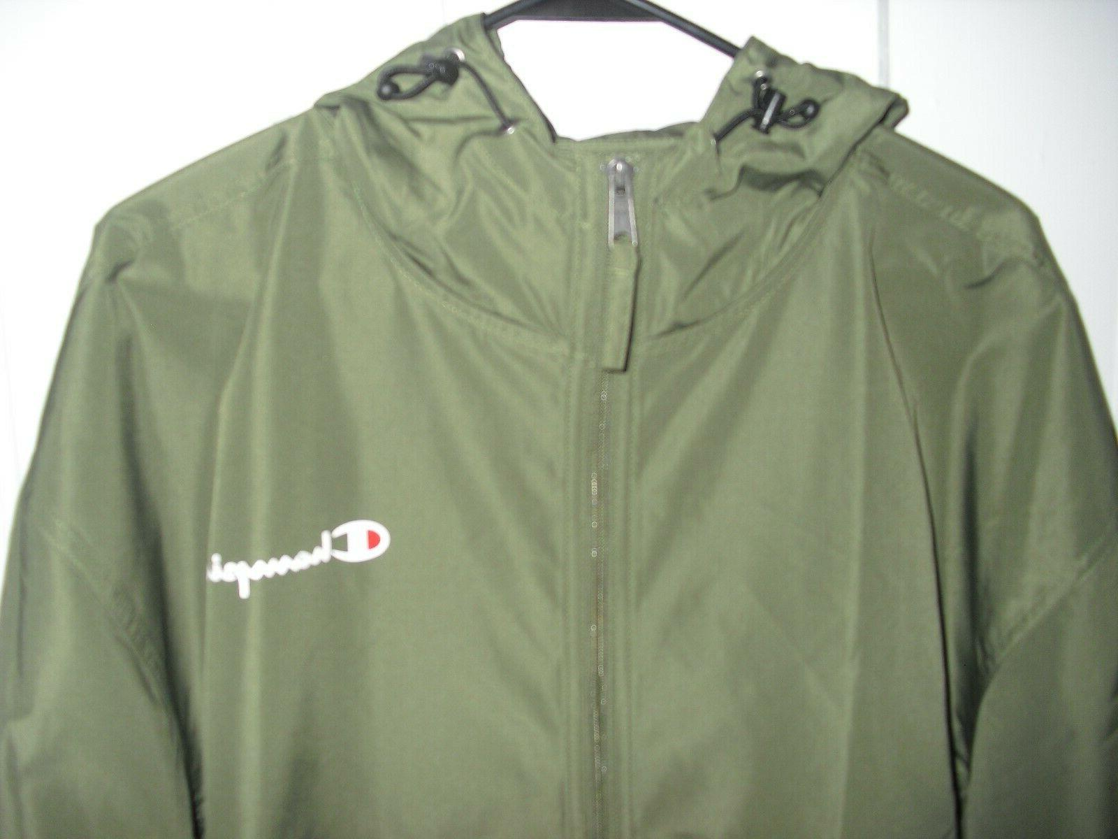 Champion Men's Packable Zip Olive Size $45
