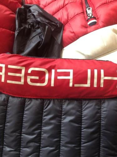 TOMMY - PACKABLE PUFFER JACKET Red White - Size L