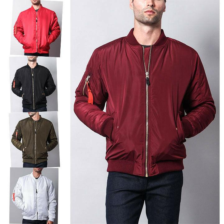 Victorious Men's Padded Bomber Jacket Flight Military Air Fo