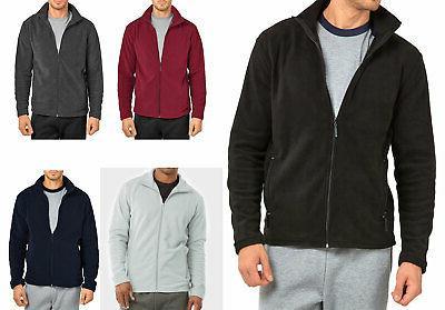 men s polar fleece jacket plain full