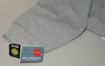 Men's Hanes Premium Grey Heather Zip Jacket **NEW**