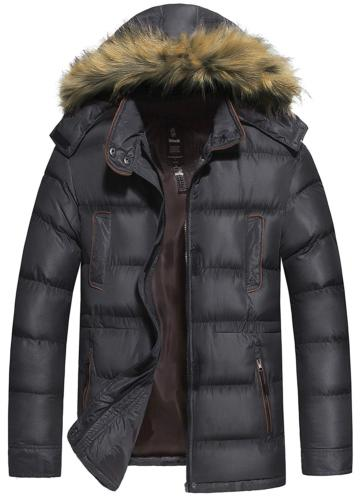 Wantdo Men's Puffer Coat Warm Windproof Quilted Jacket with