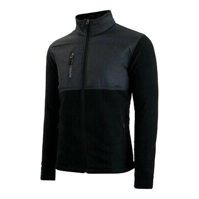 New Chest Full-Zip Fleece Jacket Asphalt M