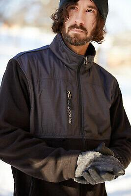 New Men's Quilted Chest Full-Zip Asphalt