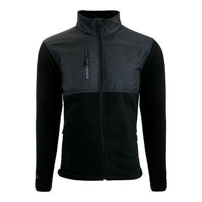 men s quilted chest full zip fleece