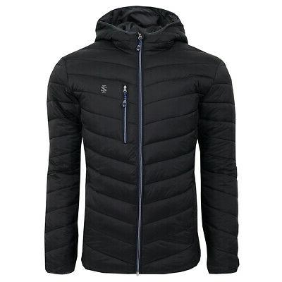 men s quilted full zip puffer jacket