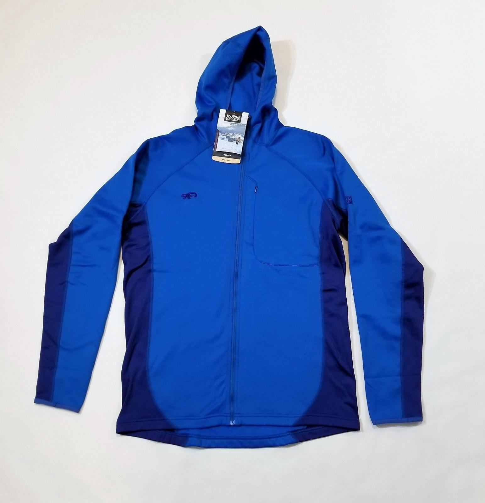 men s radiant hybrid hoody alpine jacket