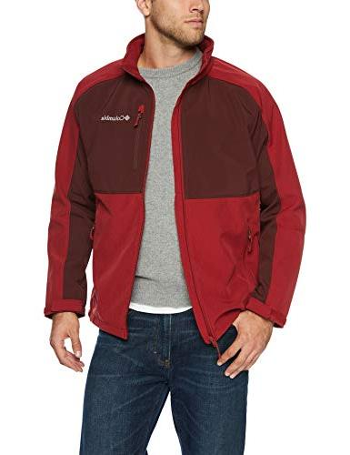men s ryton reserve softshell jacket red